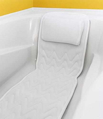 Full Body Bath Pillow Amp Mat Non Slip Plus Konjac Bath